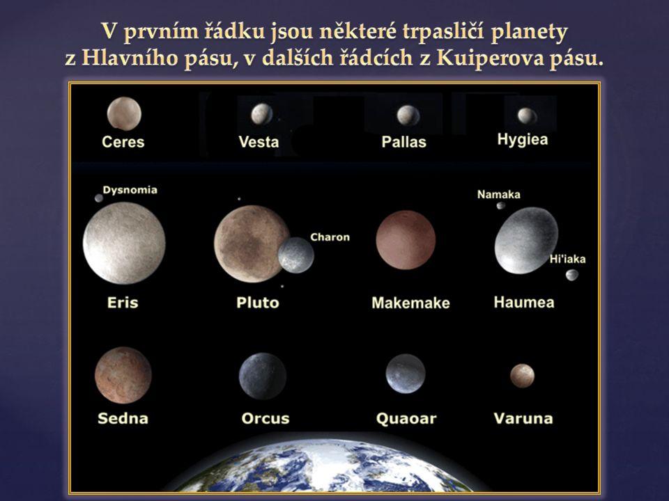  je oblast ve sluneční soustavě, která se nachází za dráhou Neptuna ve vzdálenosti 30 až 50 AU od Slunce KUIPERŮV PÁS  Jeho součástí jsou mimo jiné také tři trpasličí planety – Pluto, Haumea a Makemake  Pojmenován je podle Gerardu Kuiperovi, který v roce 1951 navrhl teorii o původu některých komet v bližší oblasti než Oortův oblak.