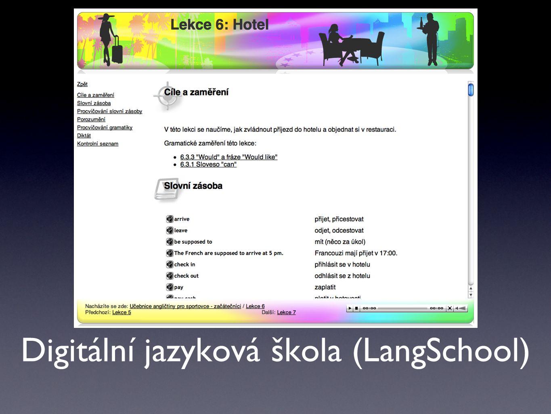 Digitální jazyková škola (LangSchool)