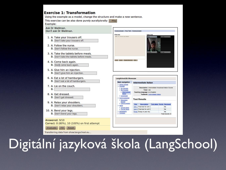 Několik ukázek aplikací vyučovaných a vylepšovaných v rámci projektu