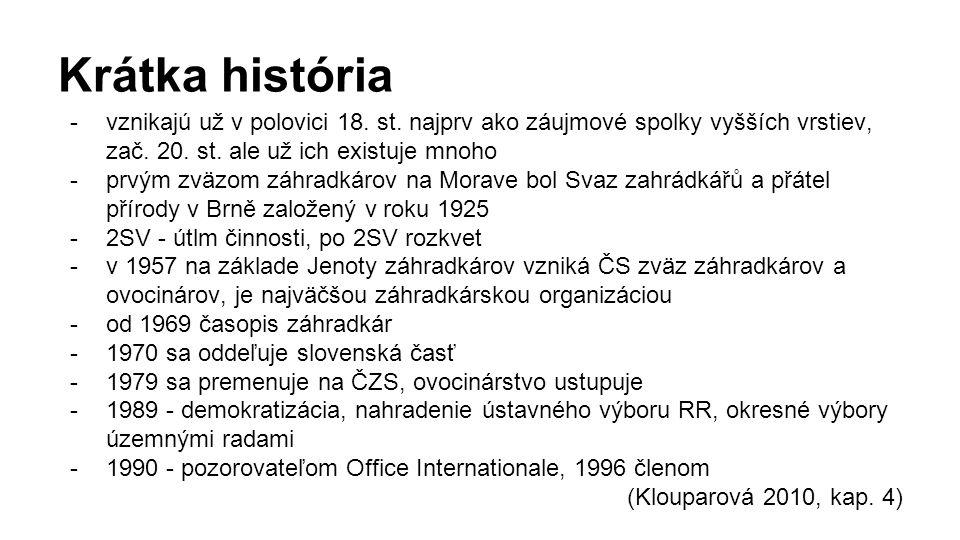 Jak prakticky funguje zahrádkářské hnutí v ČR/SR?