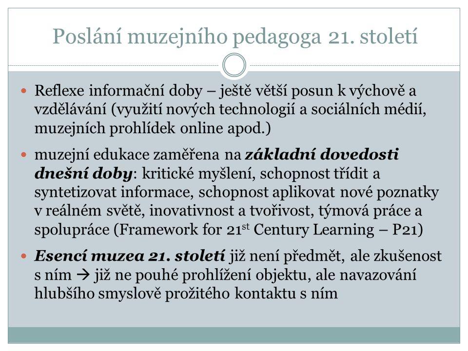 Poslání muzejního pedagoga 21.