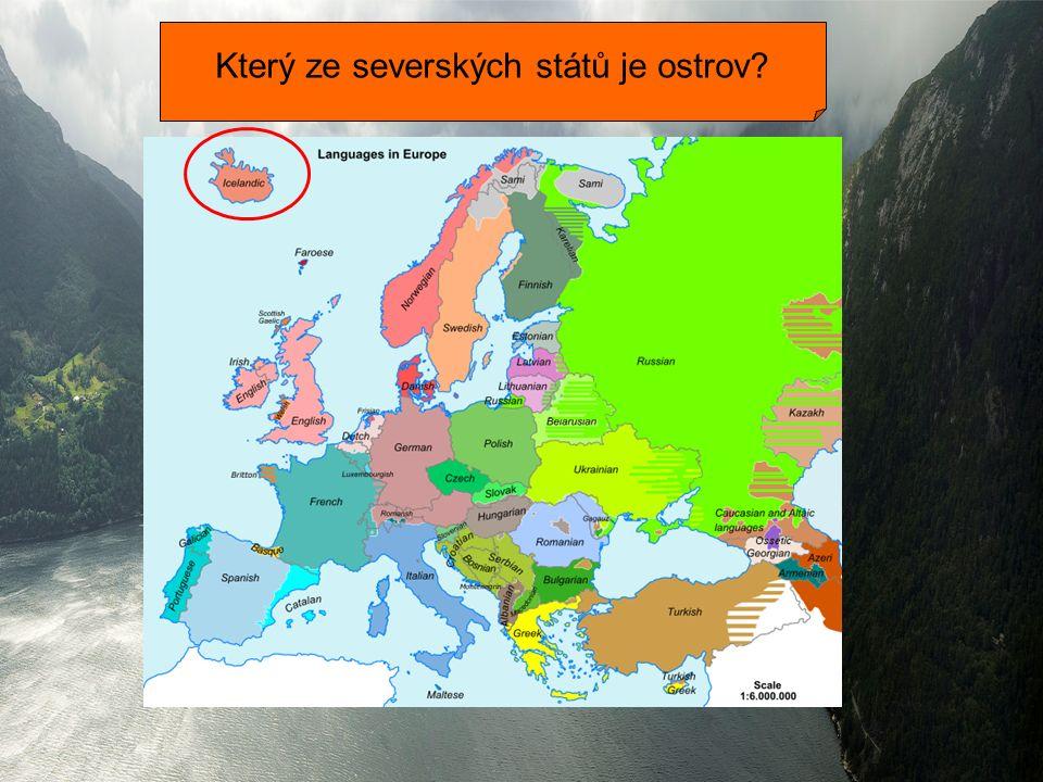 Který ze severských států je ostrov?