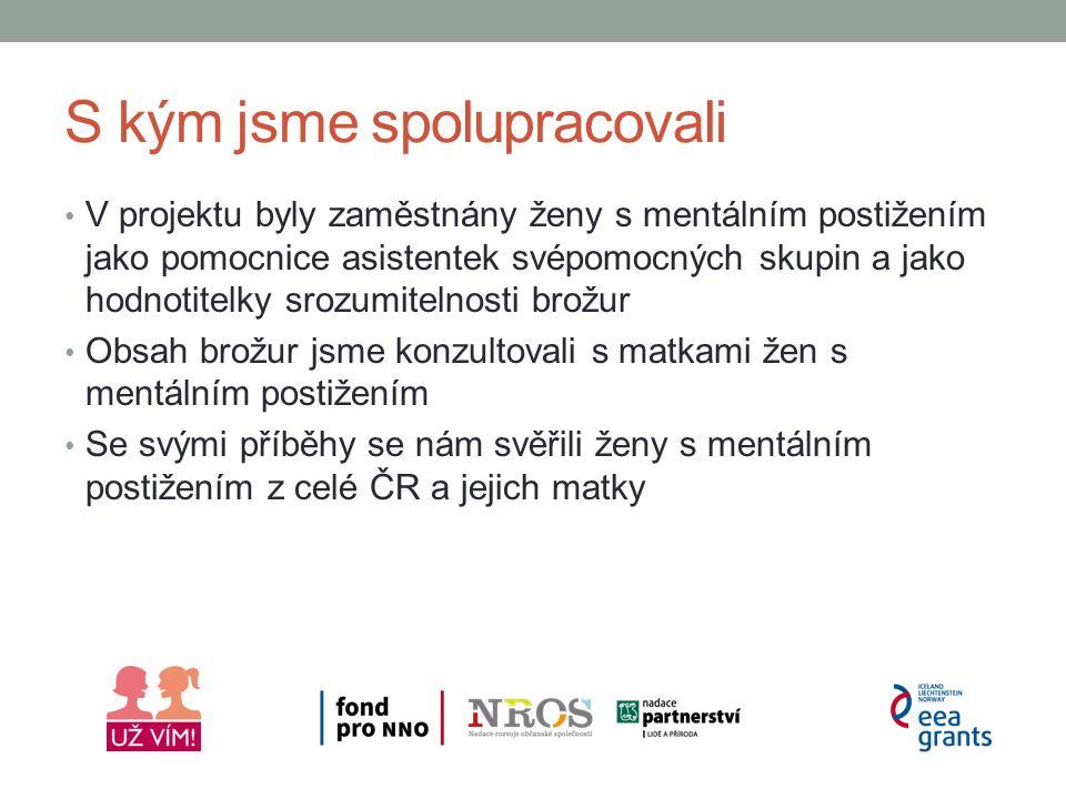 S kým jsme spolupracovali Partneři projektu Islandská univerzita v Reykjavíku, Centrum studia postižení Spolupracující organizace Lékařská fakulta Ostravské univerzity, Ústav ošetřovatelství a porodnictví Neoficiálně jsem spolupracovali s řadou dalších organizací a odborníků