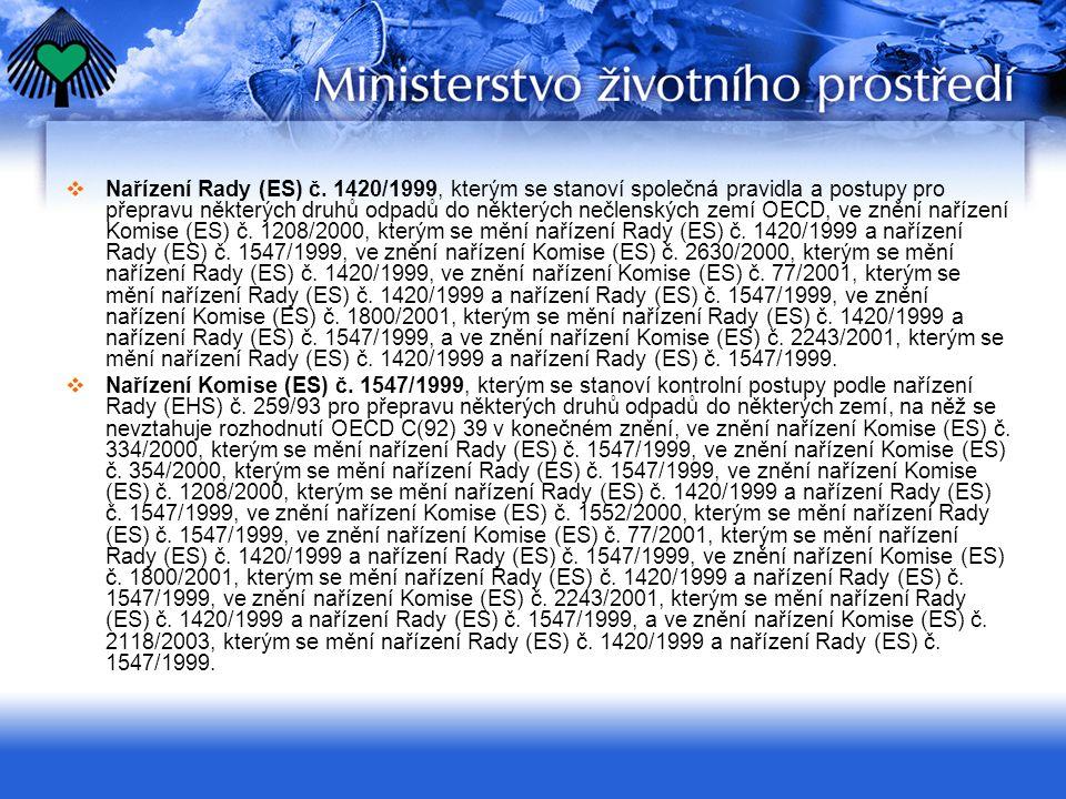  Rozhodnutí Komise 94/774/ES o standardním průvodním listu ve smyslu nařízení Rady (EHS) č.