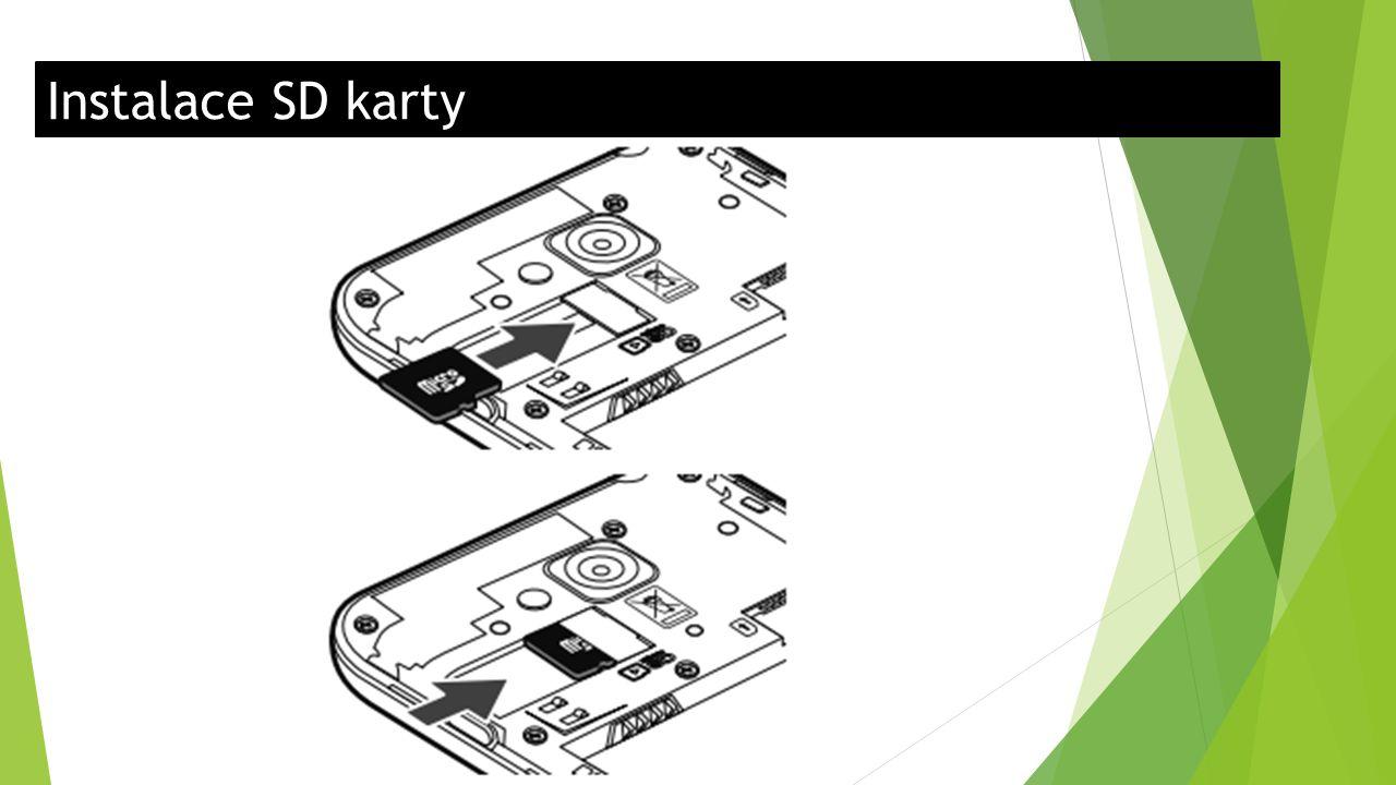 Instalace SD karty