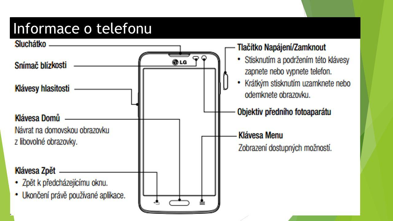 Informace o telefonu