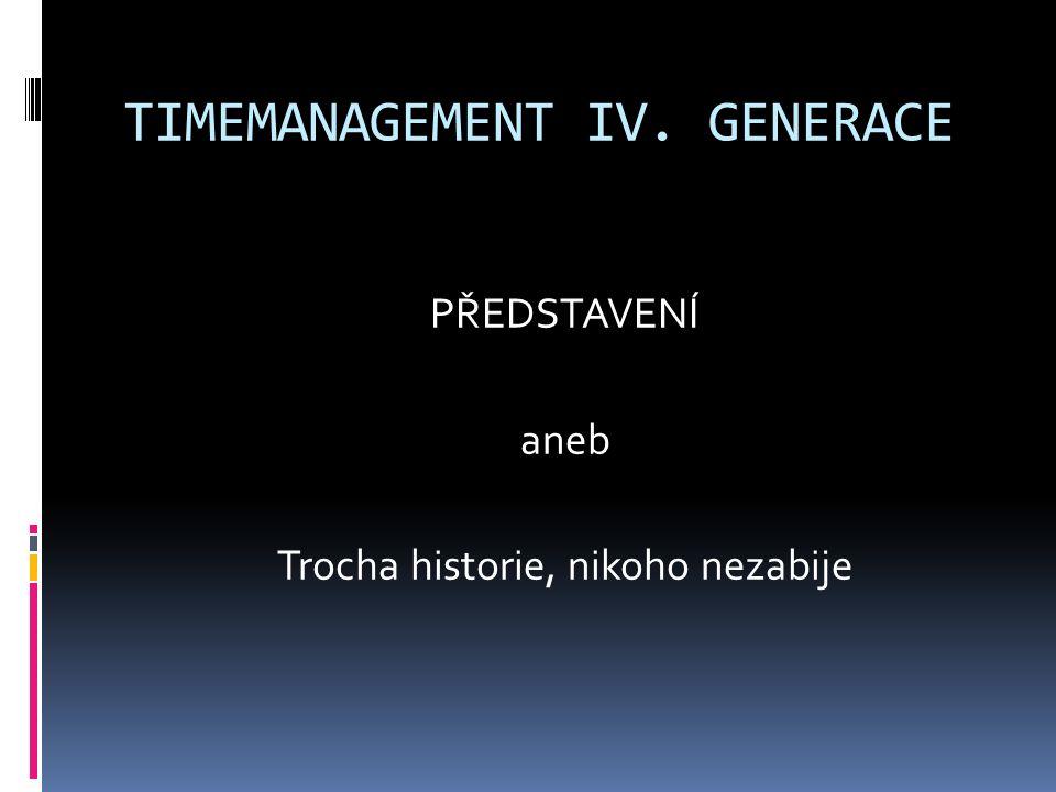 CO TIMEMANAGEMENT I. GENERACE