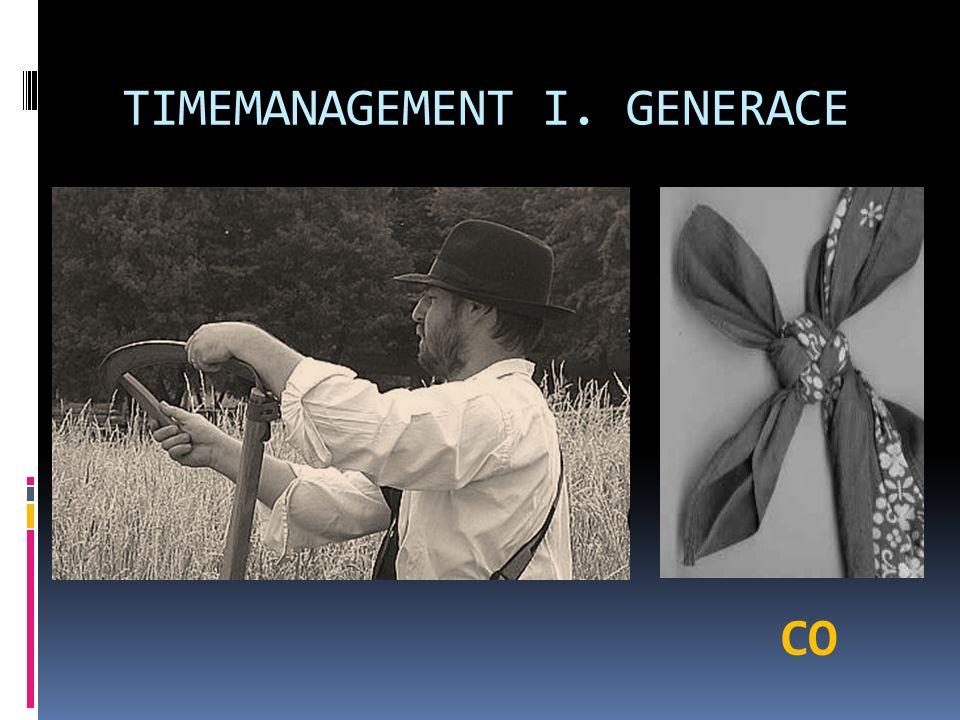 TIMEMANAGEMENT II. GENERACE CO + KDY