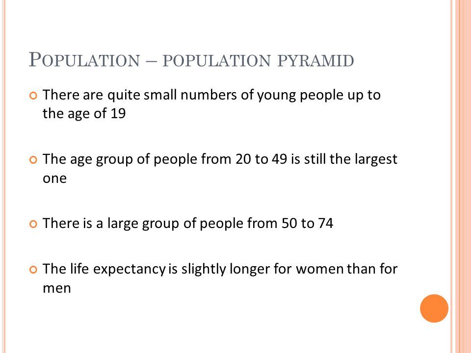 P OPULATION – POPULATION DISTRIBUTION