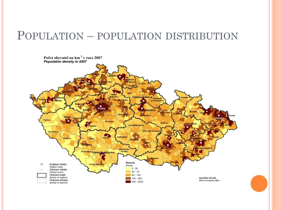 P OPULATION – POPULATION DISTRIBUTION