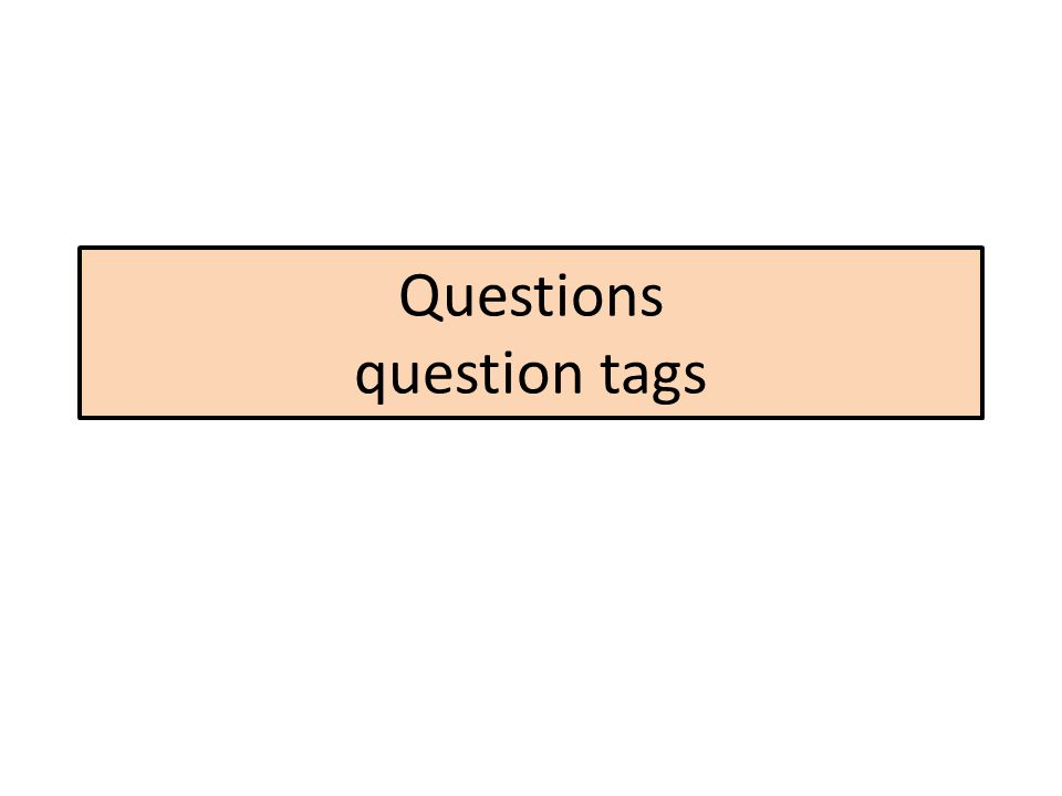 Questions question tags