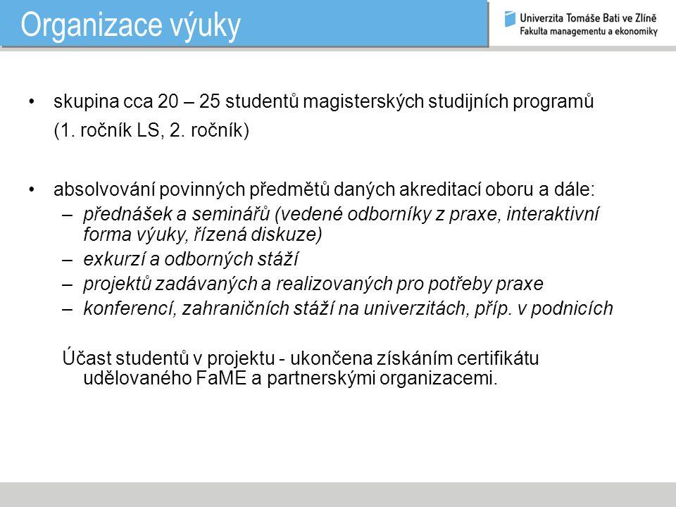 Název předmětu 1.ročník MSP – LS: Řízení organizací I.