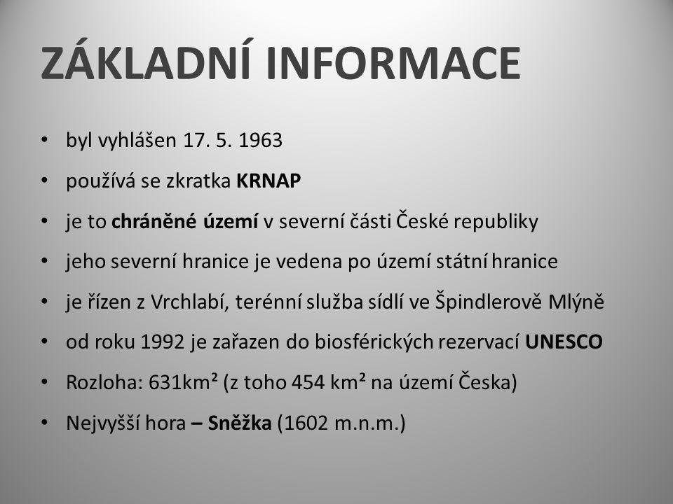 ZÁKLADNÍ INFORMACE byl vyhlášen 17. 5.
