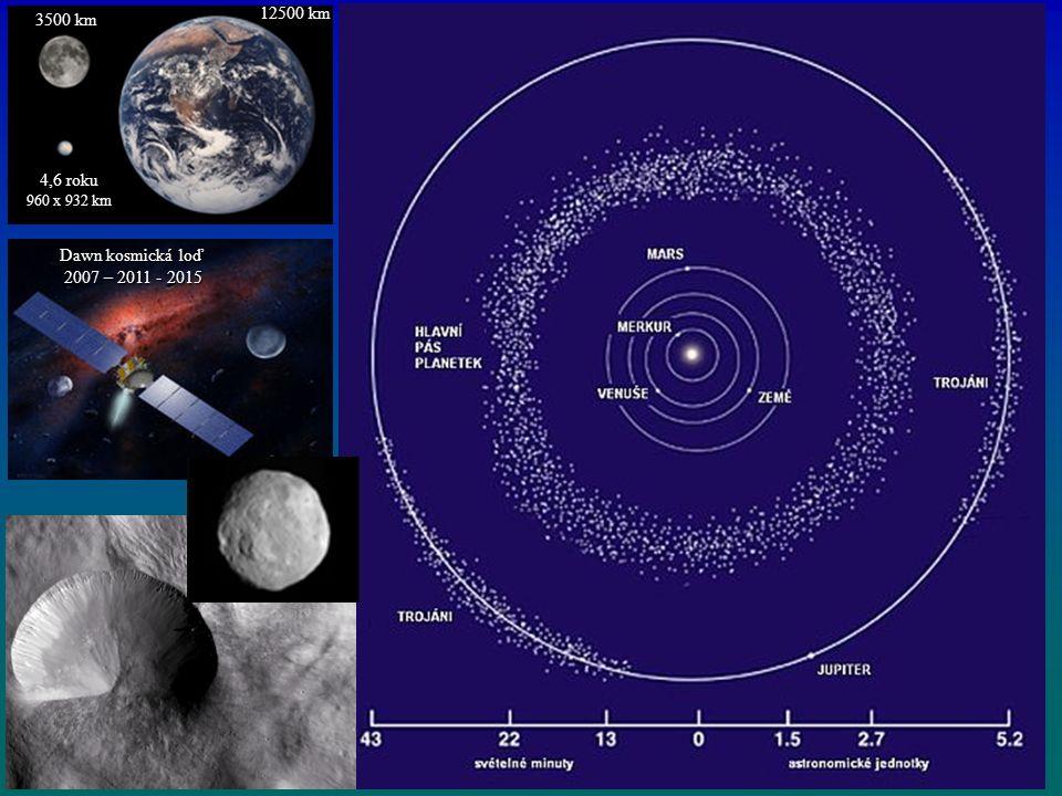 12500 km 3500 km Dawn kosmická loď 2007 – 2011 - 2015 2007 – 2011 - 2015 4,6 roku 960 x 932 km
