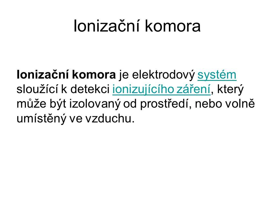 Ionizační komora - druhy 1.statické ionizační komory 2.