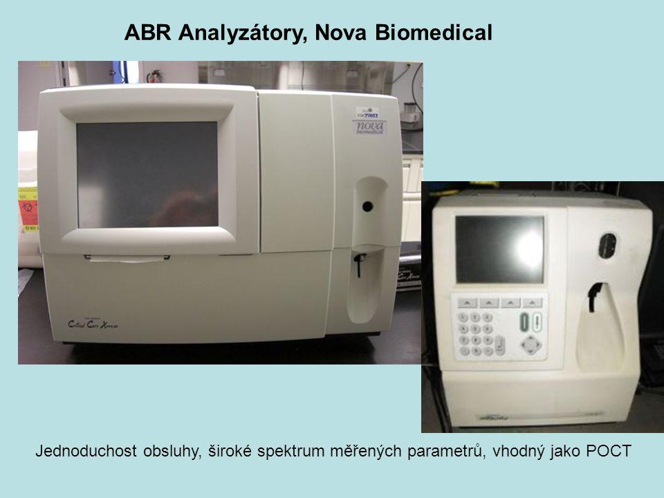 ABR Analyzátory, Nova Biomedical Jednoduchost obsluhy, široké spektrum měřených parametrů, vhodný jako POCT
