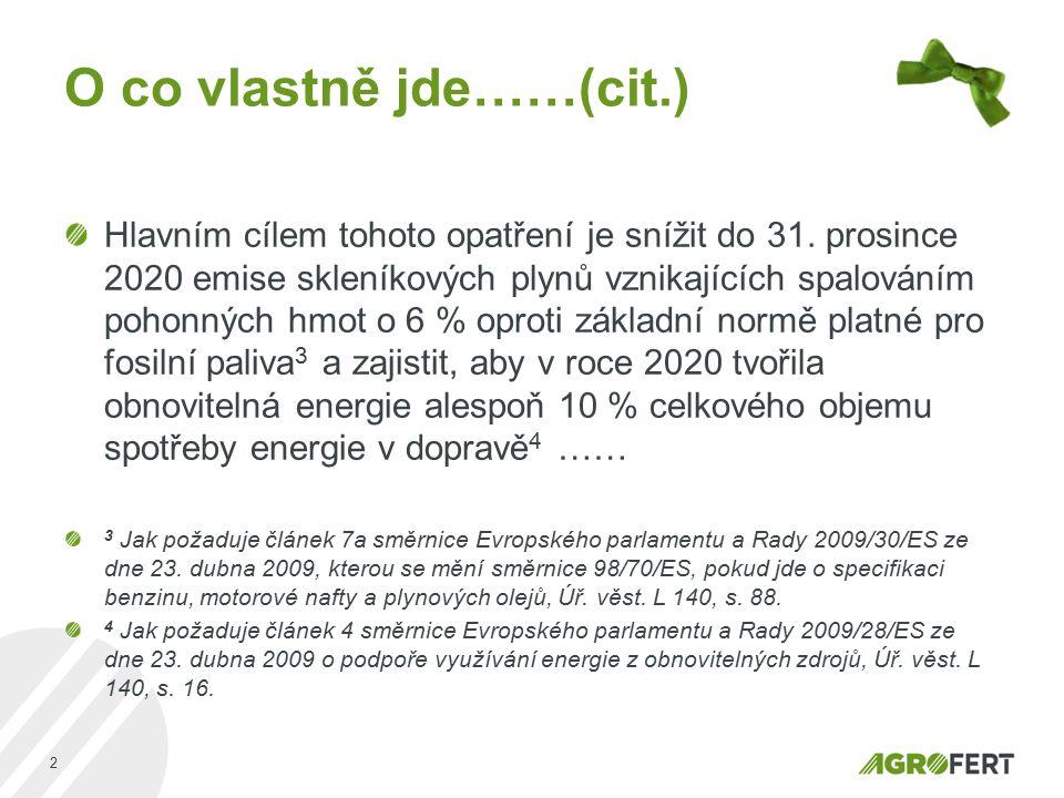 AGROFERT, a.s. Pyšelská 2327/2 149 00 Praha 4 Czech Republic Děkuji za pozornost, Ing. Martin Kubů