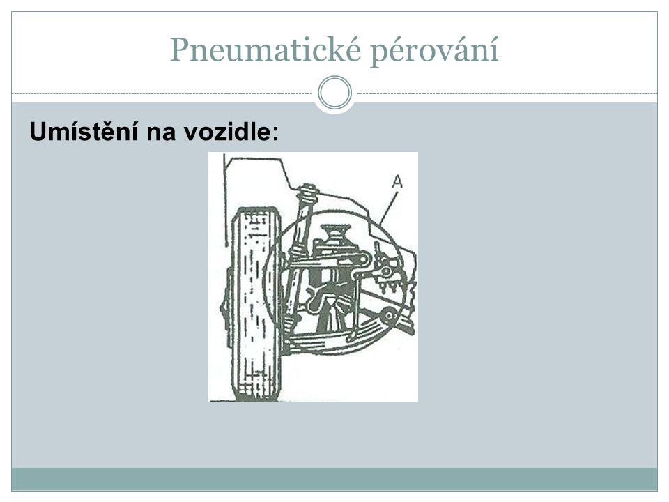 Pneumatické pérování Umístění na vozidle: