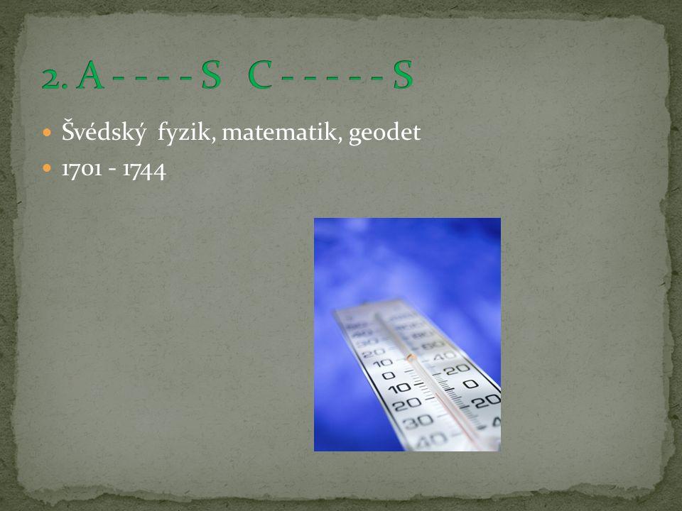 Švédský fyzik, matematik, geodet 1701 - 1744