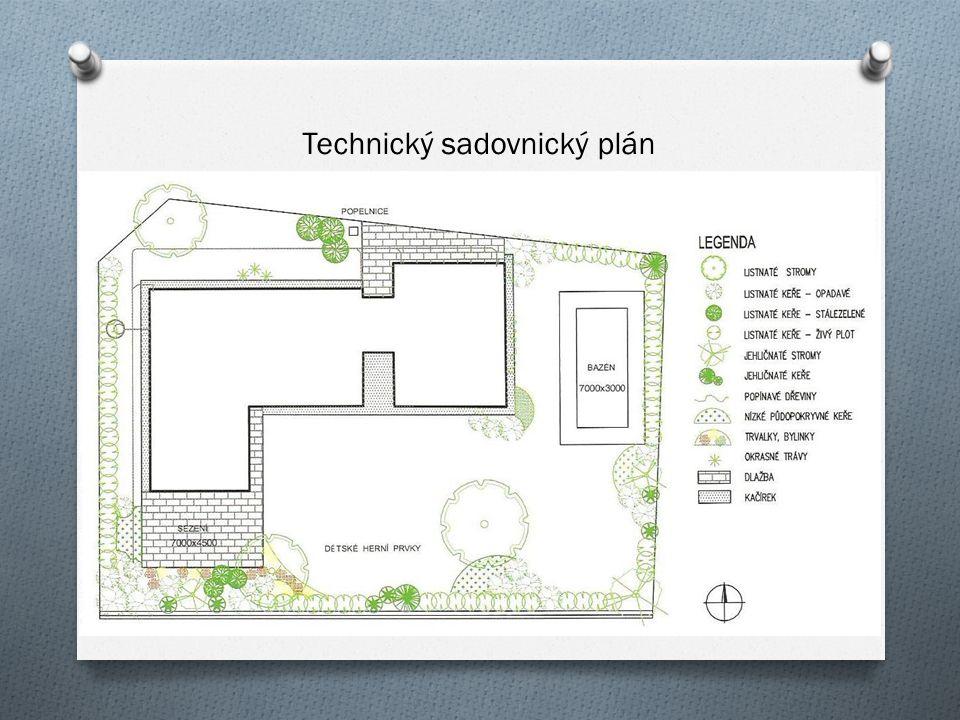 Technický sadovnický plán