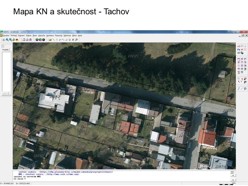 Mapa KN a skutečnost - Tachov