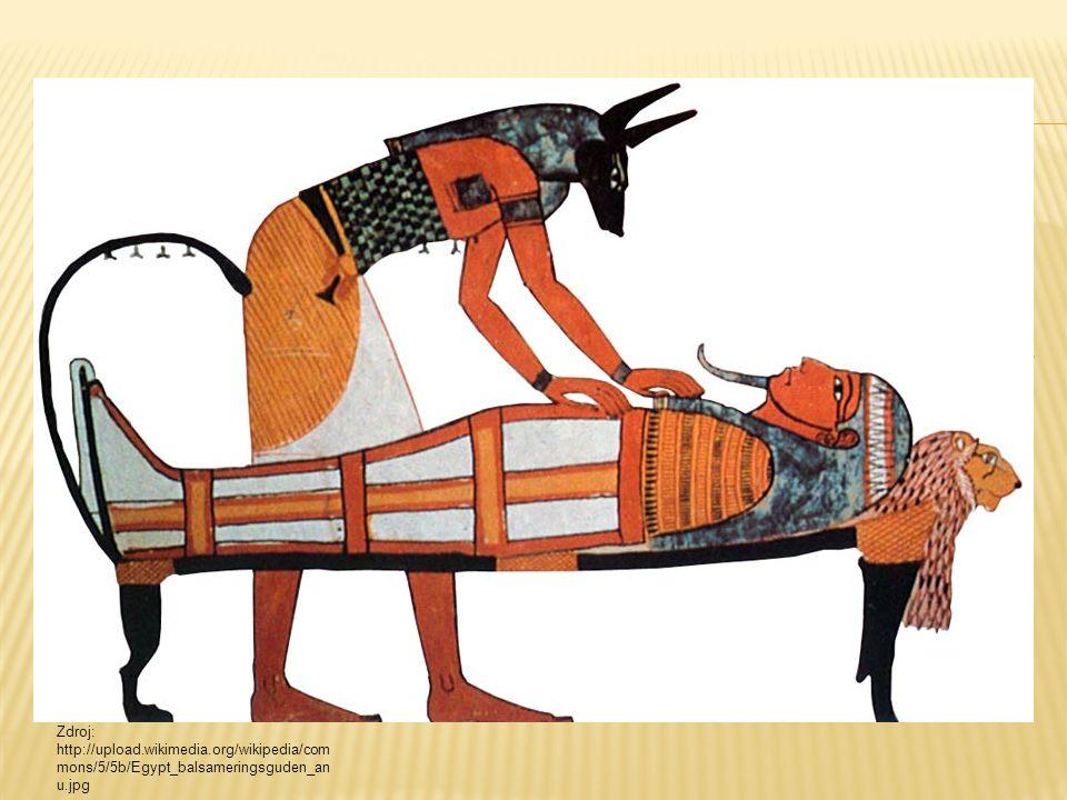  Snaha uchovat duši zemřelých.  Mumifikace - složitý proces  Do hrobu mrtvým dávány různé předměty, které by mohli potřebovat po smrti – šperky, zb
