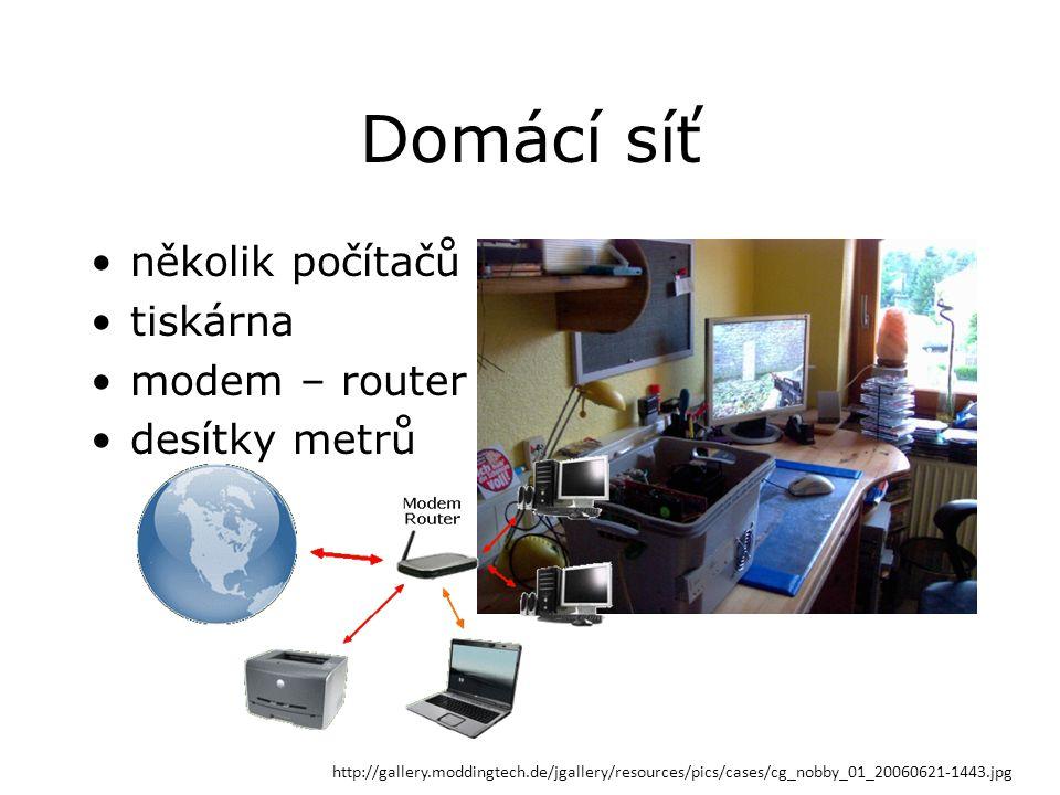Domácí síť několik počítačů tiskárna modem – router desítky metrů http://gallery.moddingtech.de/jgallery/resources/pics/cases/cg_nobby_01_20060621-1443.jpg