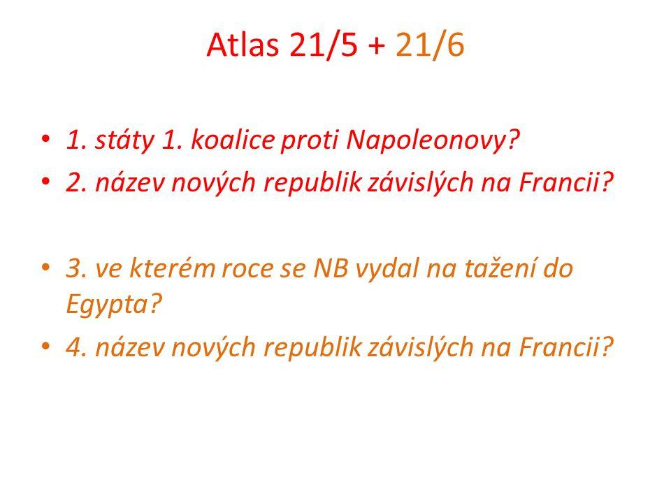 Atlas 21/5 + 21/6 1. státy 1. koalice proti Napoleonovy.