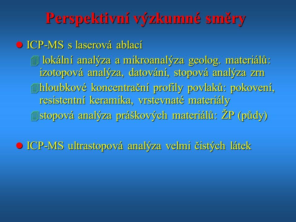 Perspektivní výzkumné směry l ICP-MS s laserová ablací 4 lokální analýza a mikroanalýza geolog.
