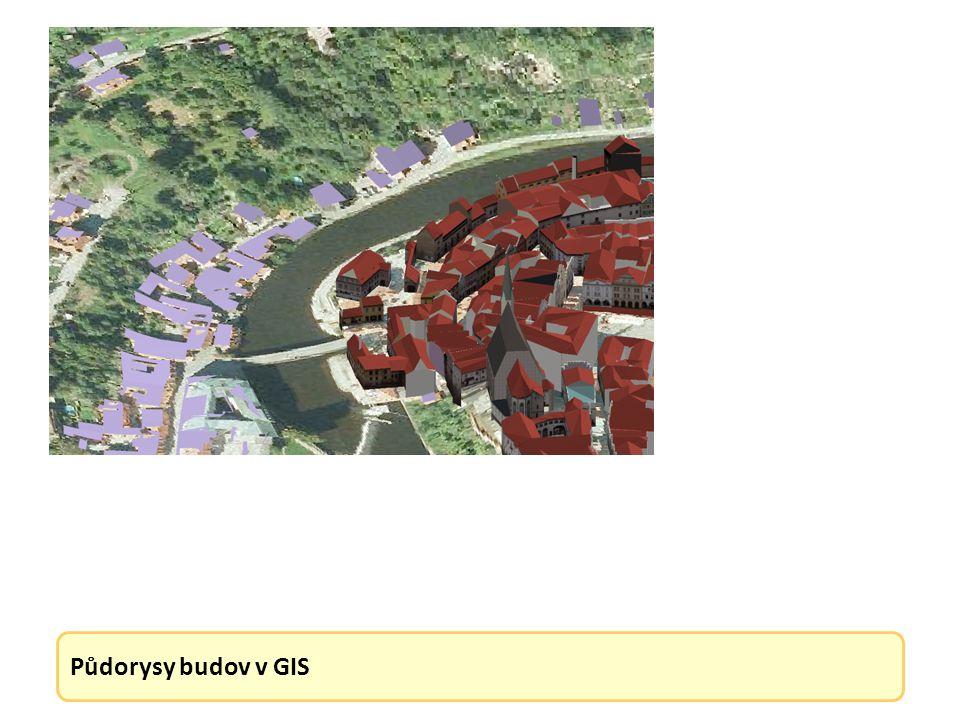Půdorysy budov v GIS