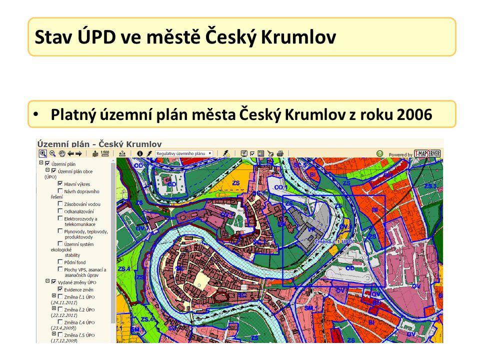 Platný územní plán města Český Krumlov z roku 2006 Vydané změny územního plánu: ZM č.
