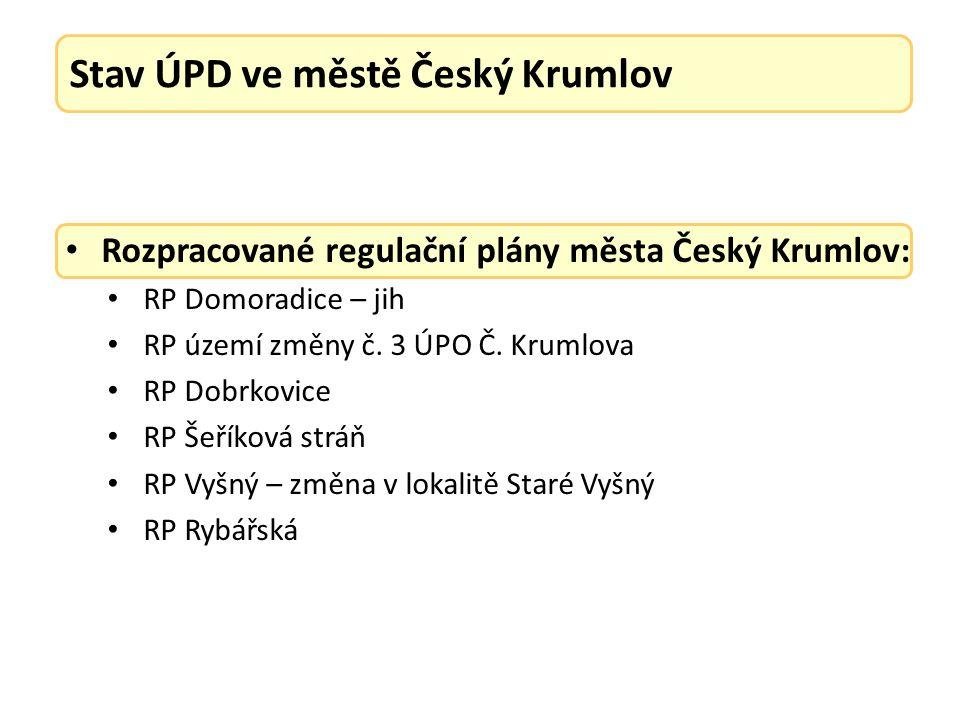 Rozpracované regulační plány města Český Krumlov: RP Domoradice – jih RP území změny č.