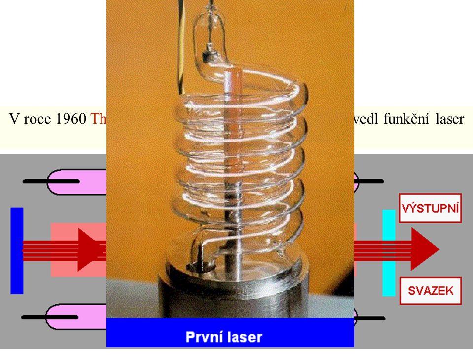 Laser V roce 1960 Theodore H. Maiman v USA poprvé předvedl funkční laser
