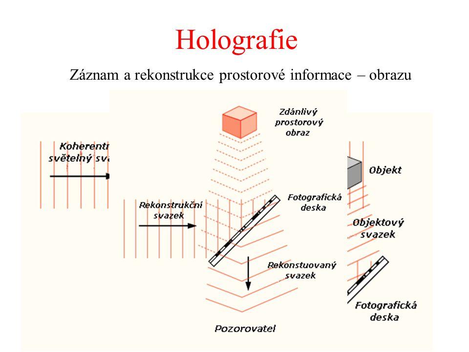 Holografie Záznam a rekonstrukce prostorové informace – obrazu