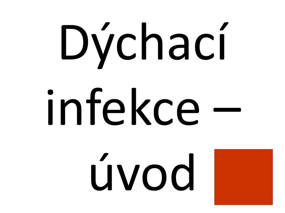 Význam infekcí dýchacích cest (respiračních nákaz) Jsou to nejběžnější infekce v ordinaci praktického lékaře (mikroby se v dýchacích cestách snadno pomnožují) Mají obrovský ekonomický dopad (neschopenky, OČR) Mají sklon vyskytovat se v kolektivech a občas probíhat v podobě epidemií Tři čtvrtiny respiračních infekcí (a u dětí ještě více) vyvolávají viry