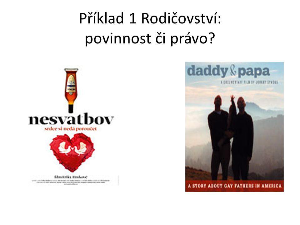 Příklad 1 Rodičovství: povinnost či právo?