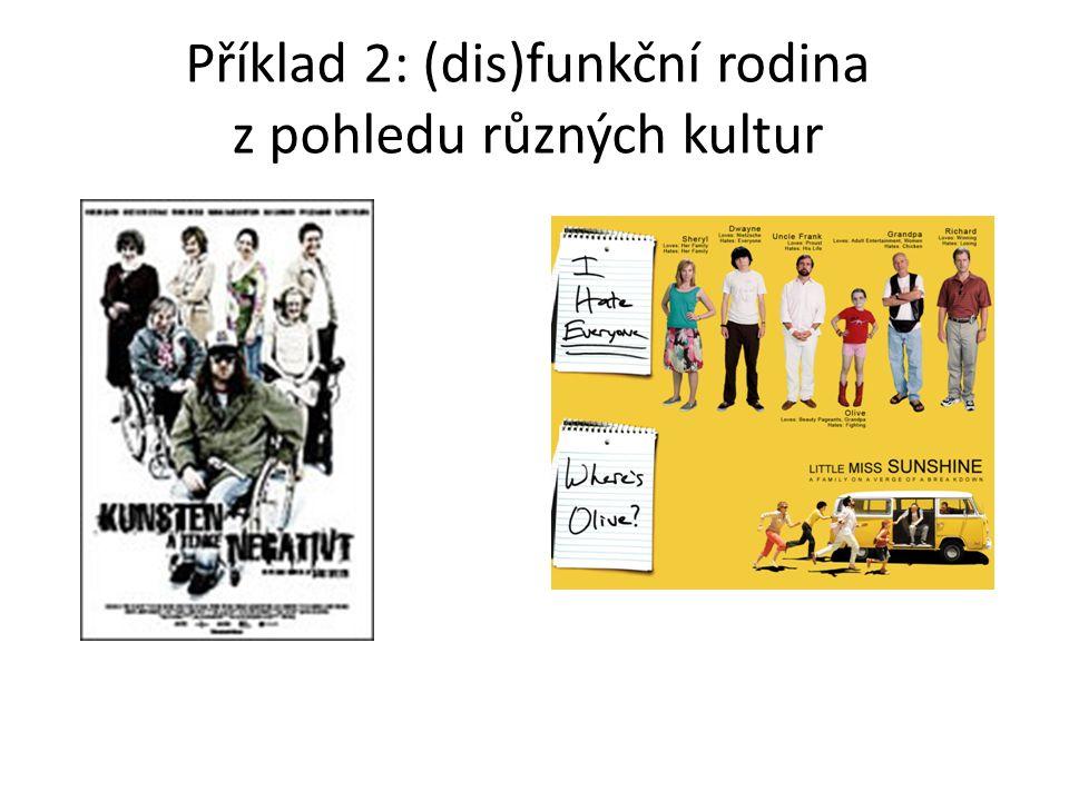 Příklad 2: (dis)funkční rodina z pohledu různých kultur
