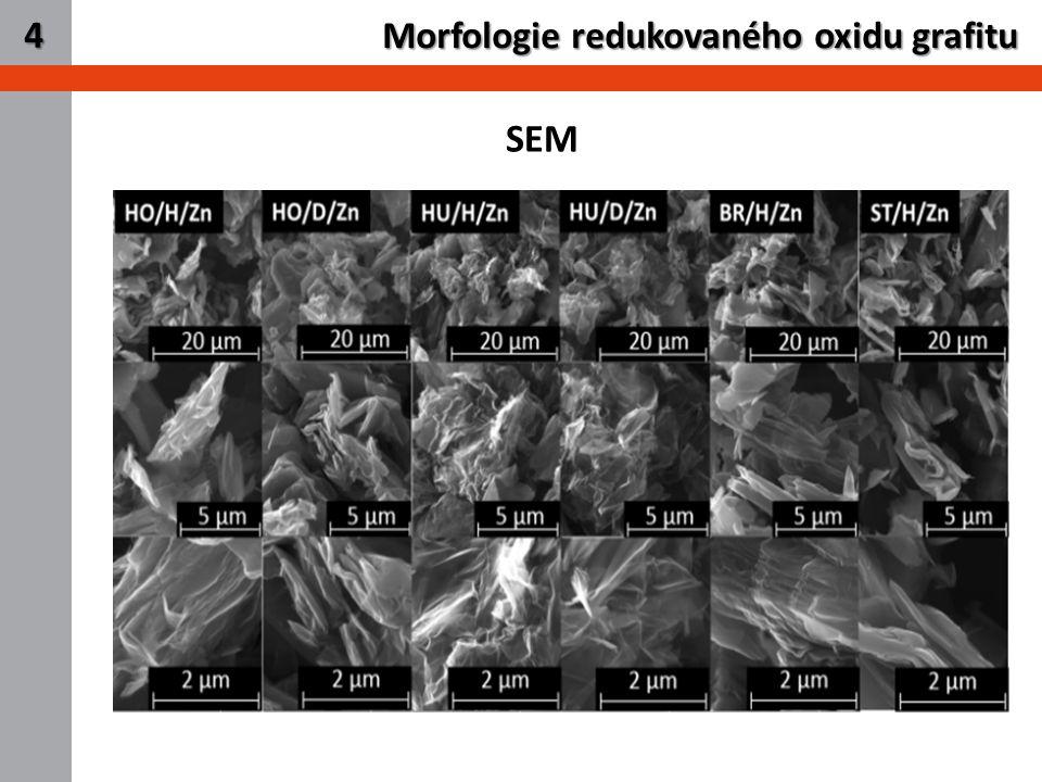 6 Morfologie redukovaného oxidu grafitu 4 SEM