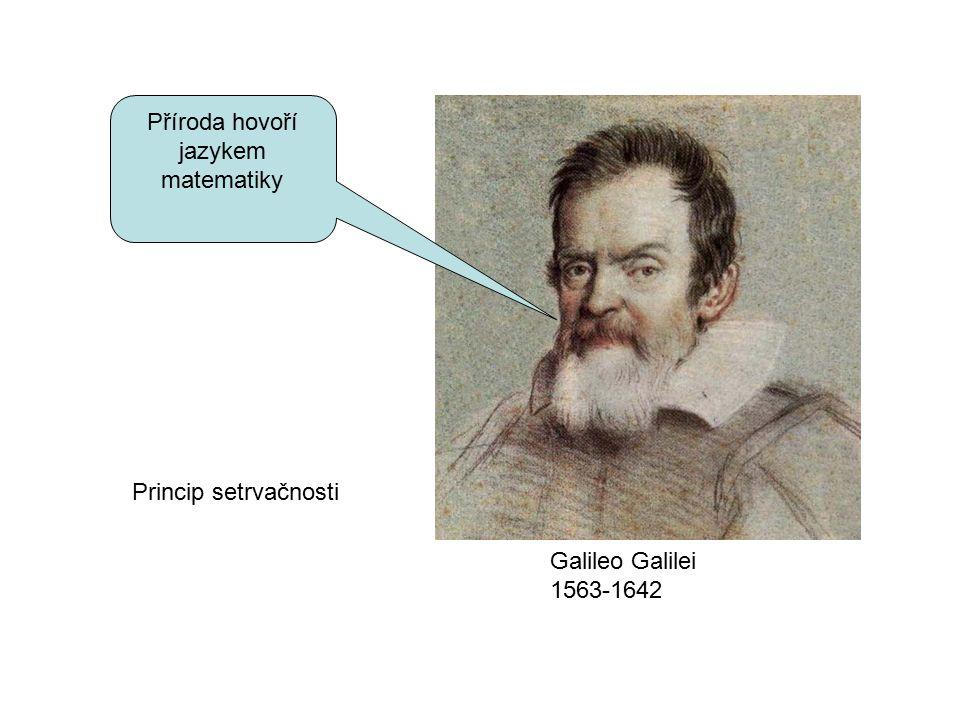 Princip setrvačnosti Příroda hovoří jazykem matematiky Galileo Galilei 1563-1642