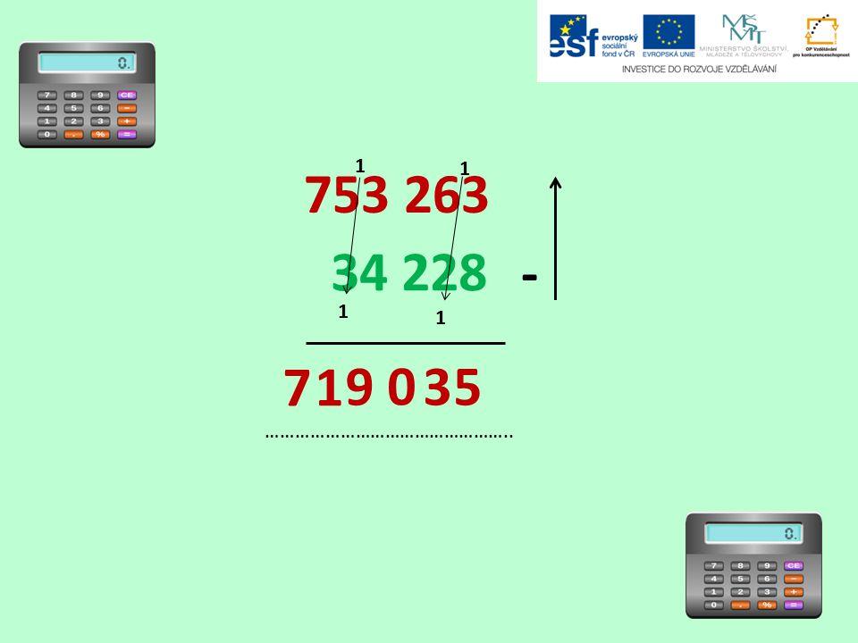 753 263 34 228 - ………………………………………….. 5 1 1 1 1 3 1 0 9 7