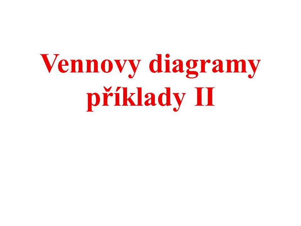 Vennovy diagramy příklady II