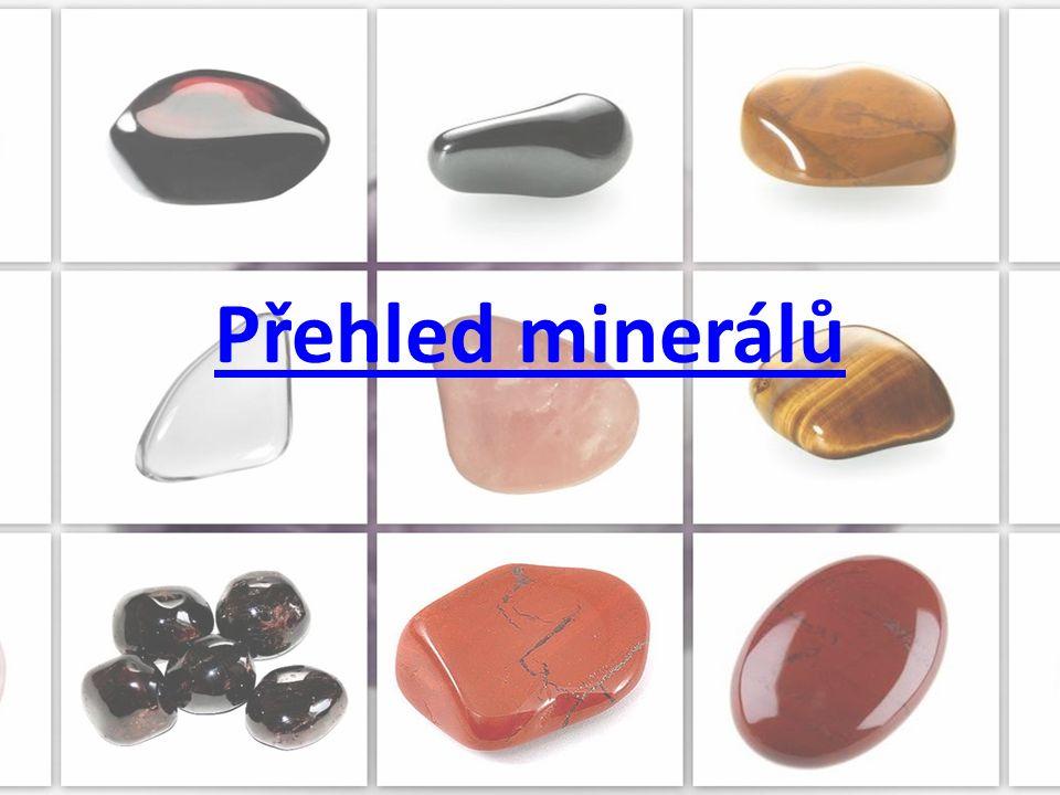Přehled minerálů