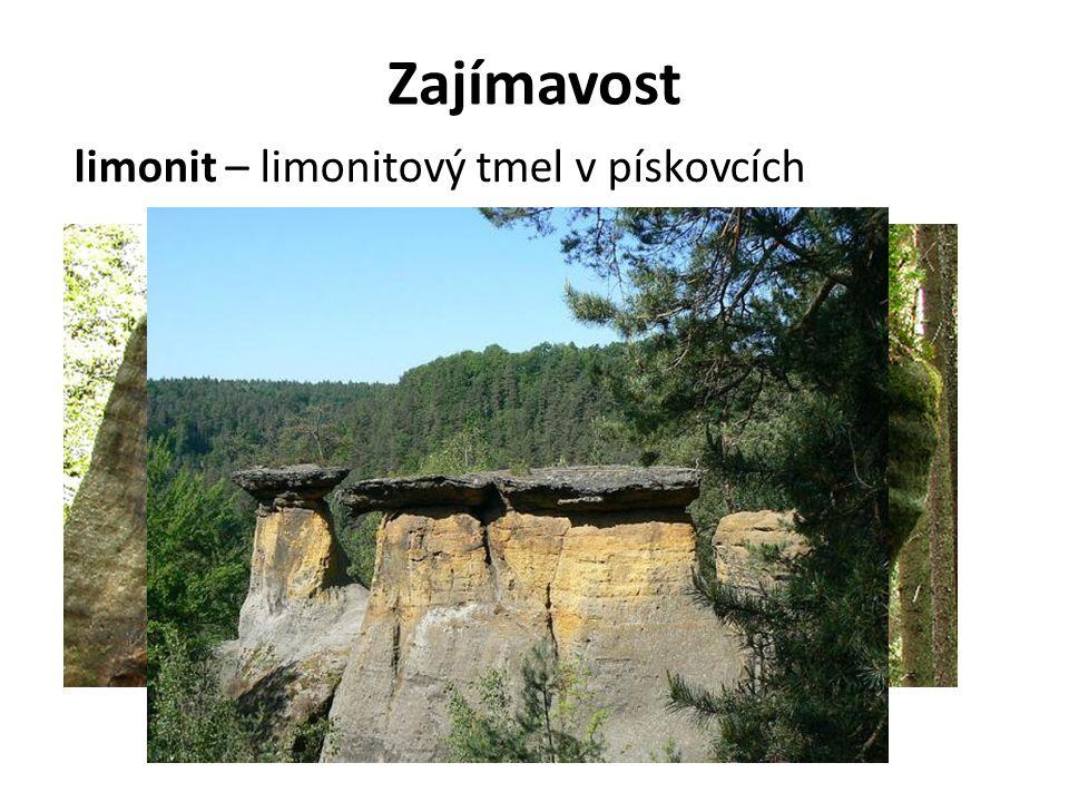 Zajímavost limonit – limonitový tmel v pískovcích