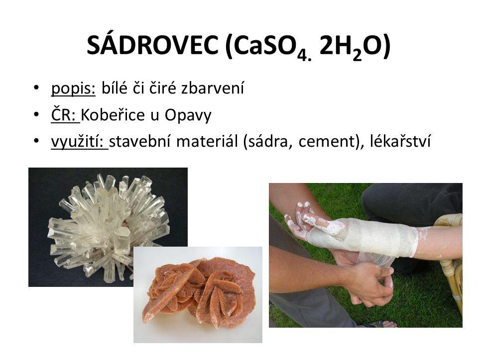 SÁDROVEC (CaSO 4.