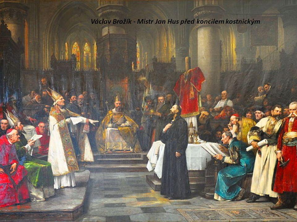 Václav Brožík - Mistr Jan Hus před koncilem kostnickým