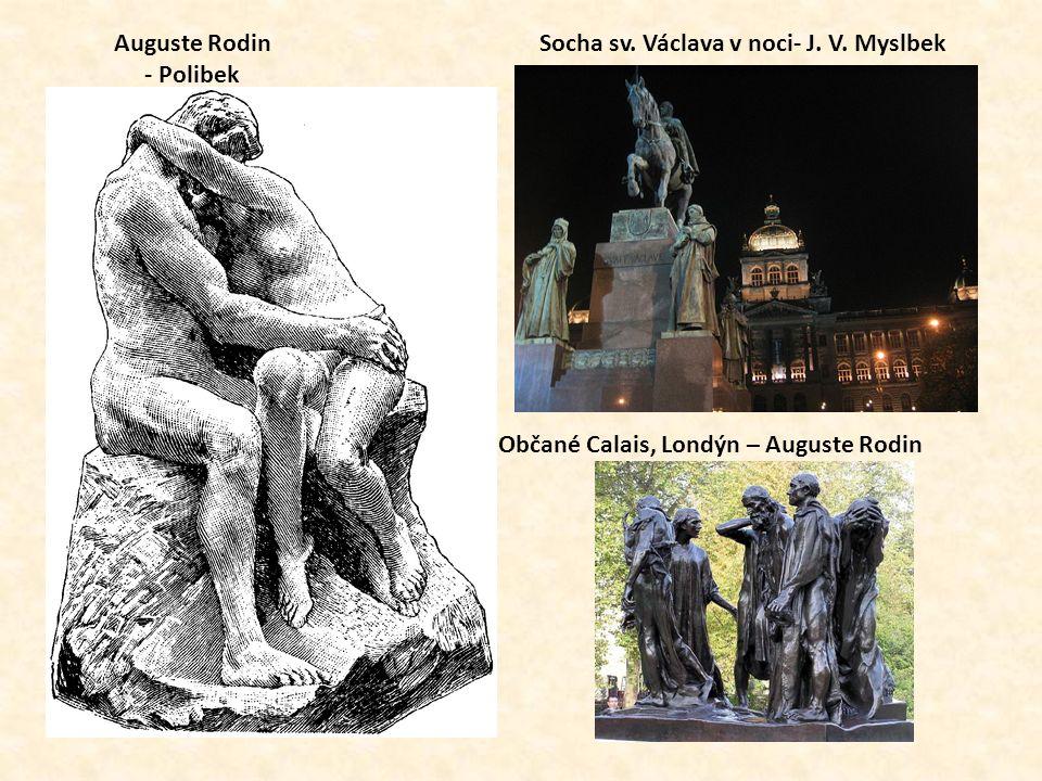 Socha sv. Václava v noci- J. V.