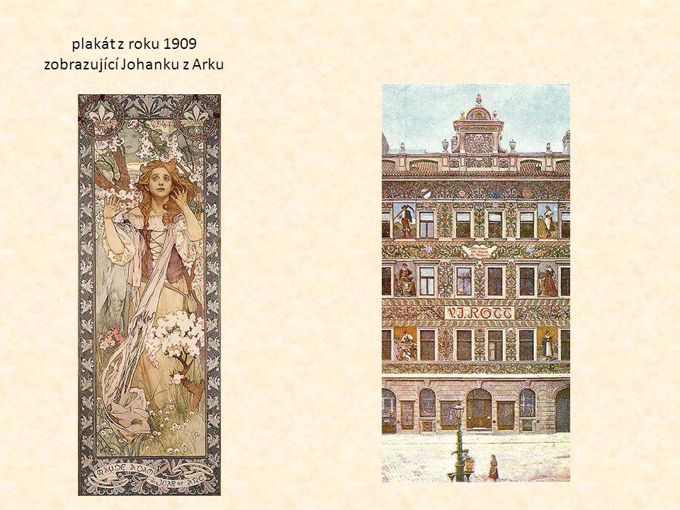 plakát z roku 1909 zobrazující Johanku z Arku