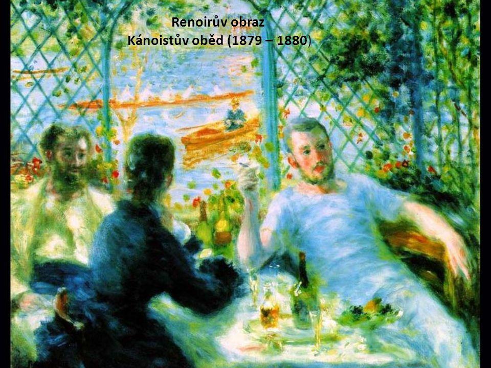 Renoirův obraz Kánoistův oběd (1879 – 1880)