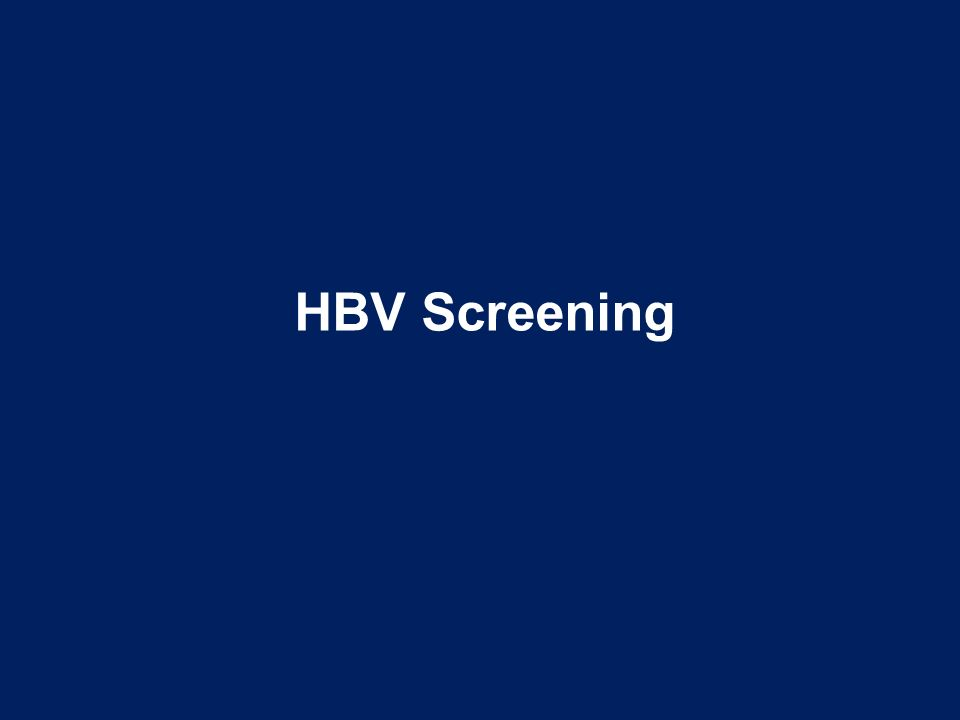 HBV Screening