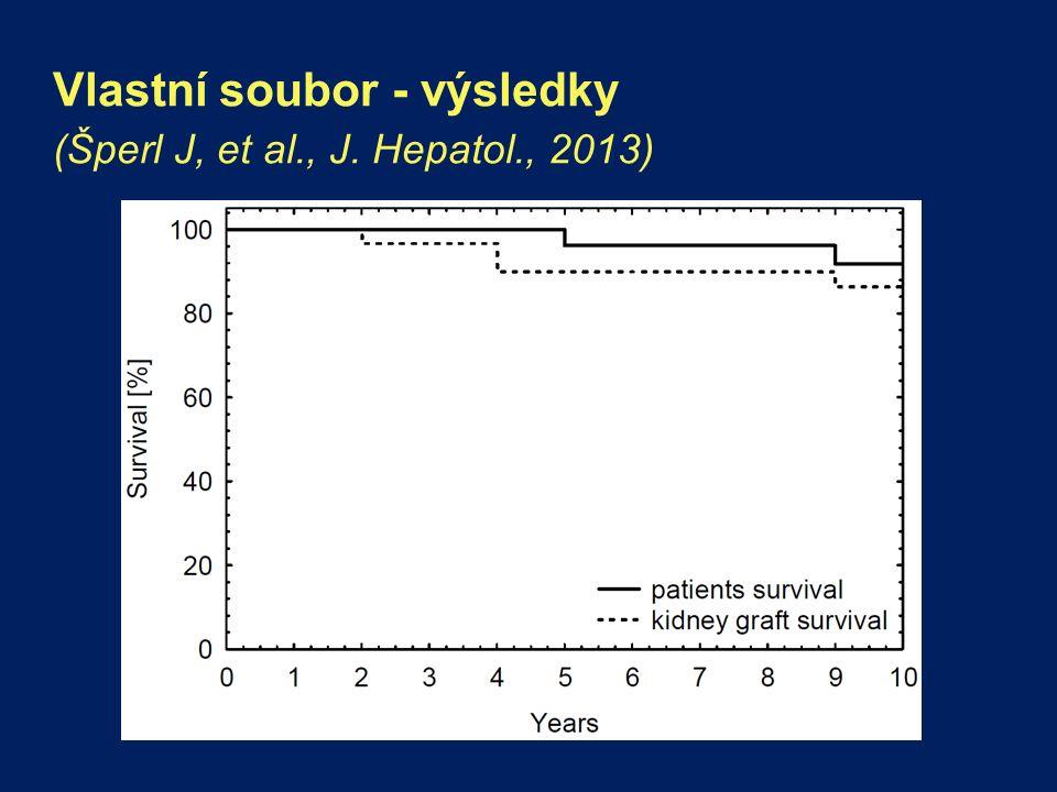 Vlastní soubor - výsledky (Šperl J, et al., J. Hepatol., 2013)